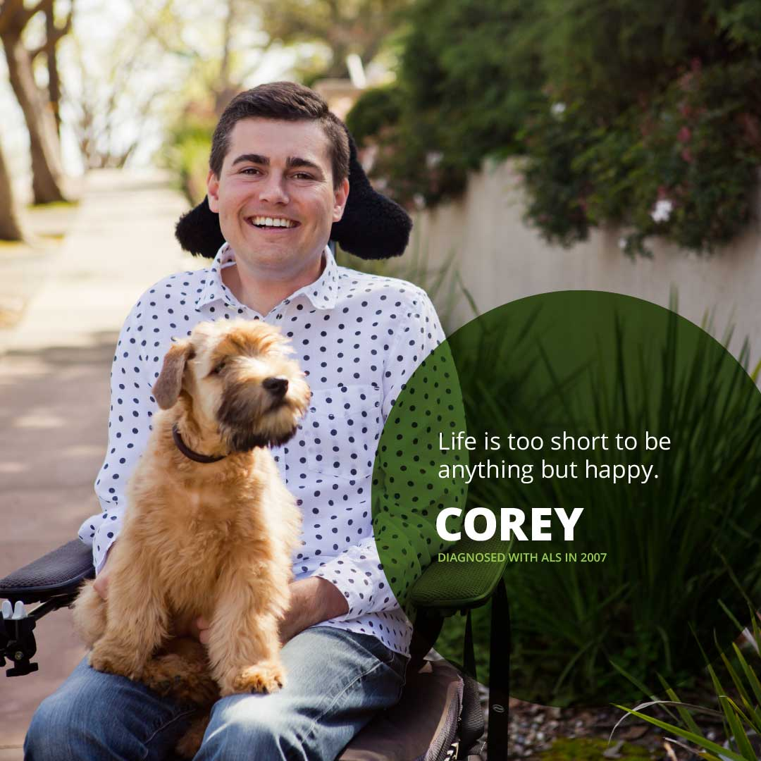 Portrait of Corey, diagnosed with ALS in 2007
