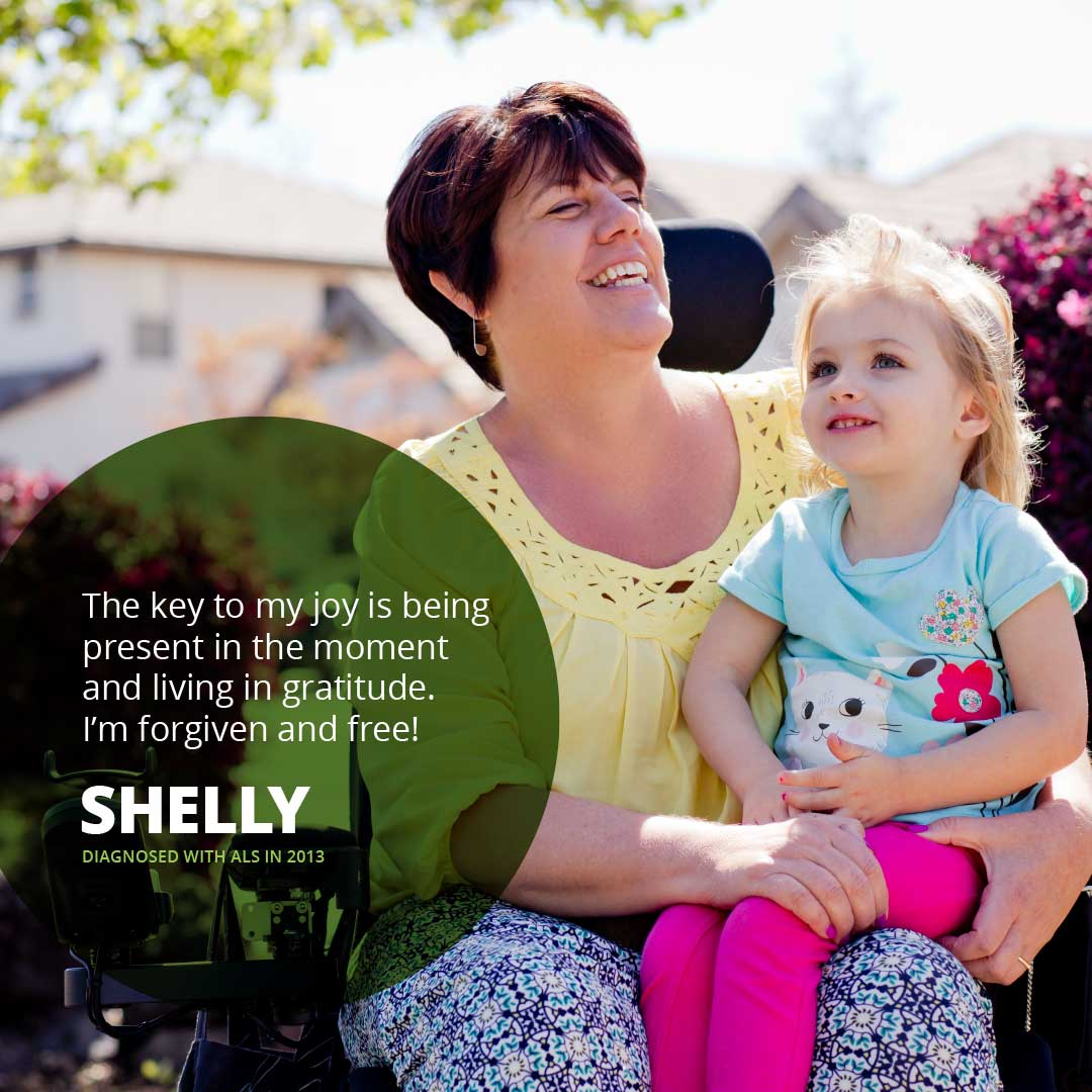 Portrait of Shelly, diagnosed with ALS in 2013