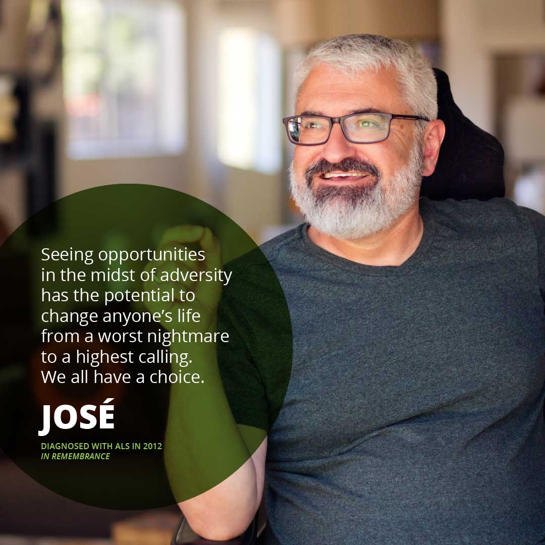Portrait in remembrance of José, diagnosed with ALS in 2012