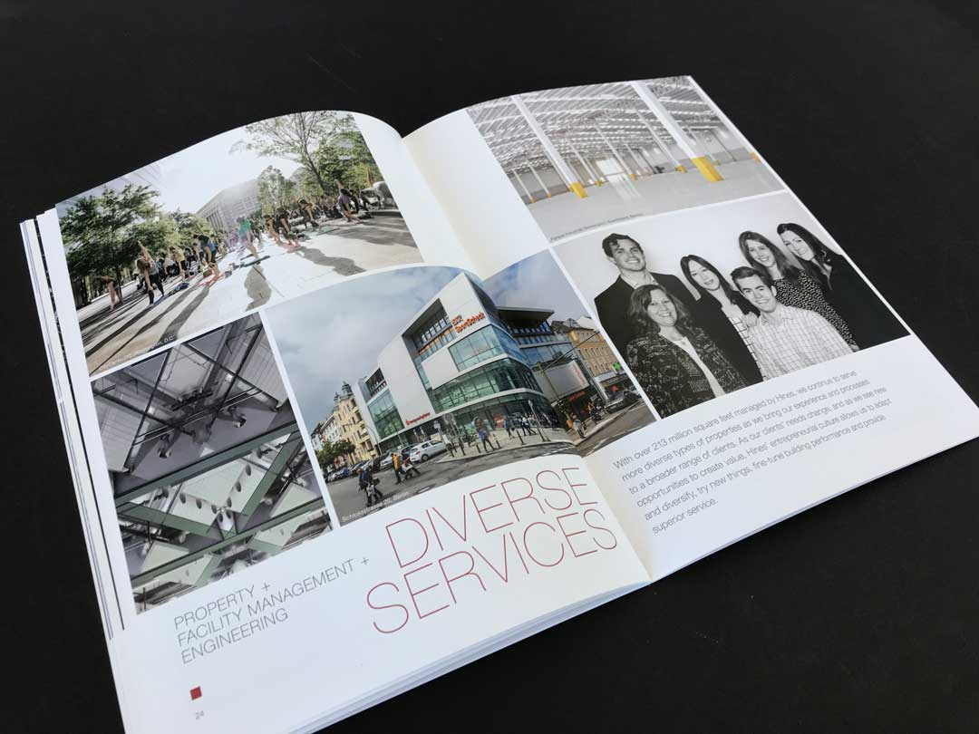 Spreads from the Hines Sustainability Report