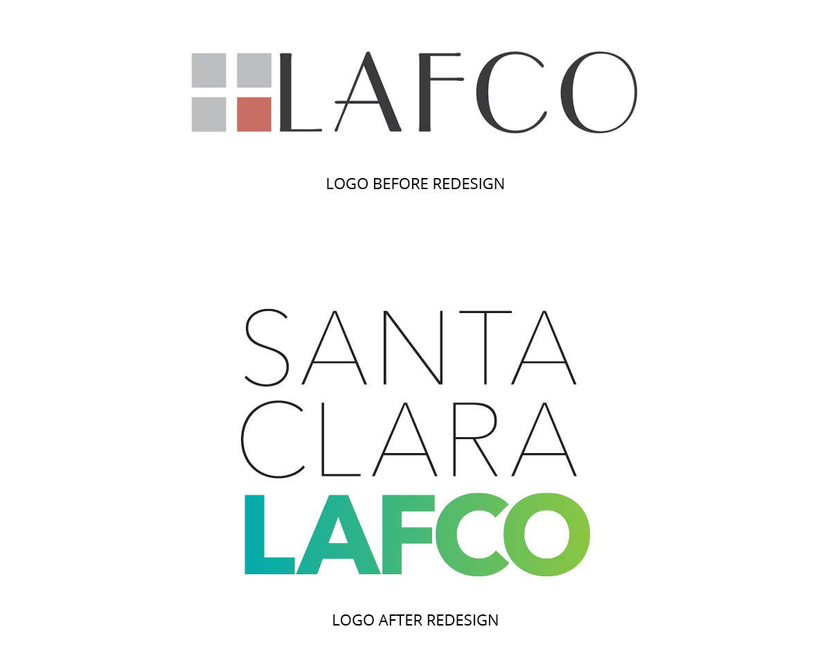 Before and After images of the LAFCO logo.