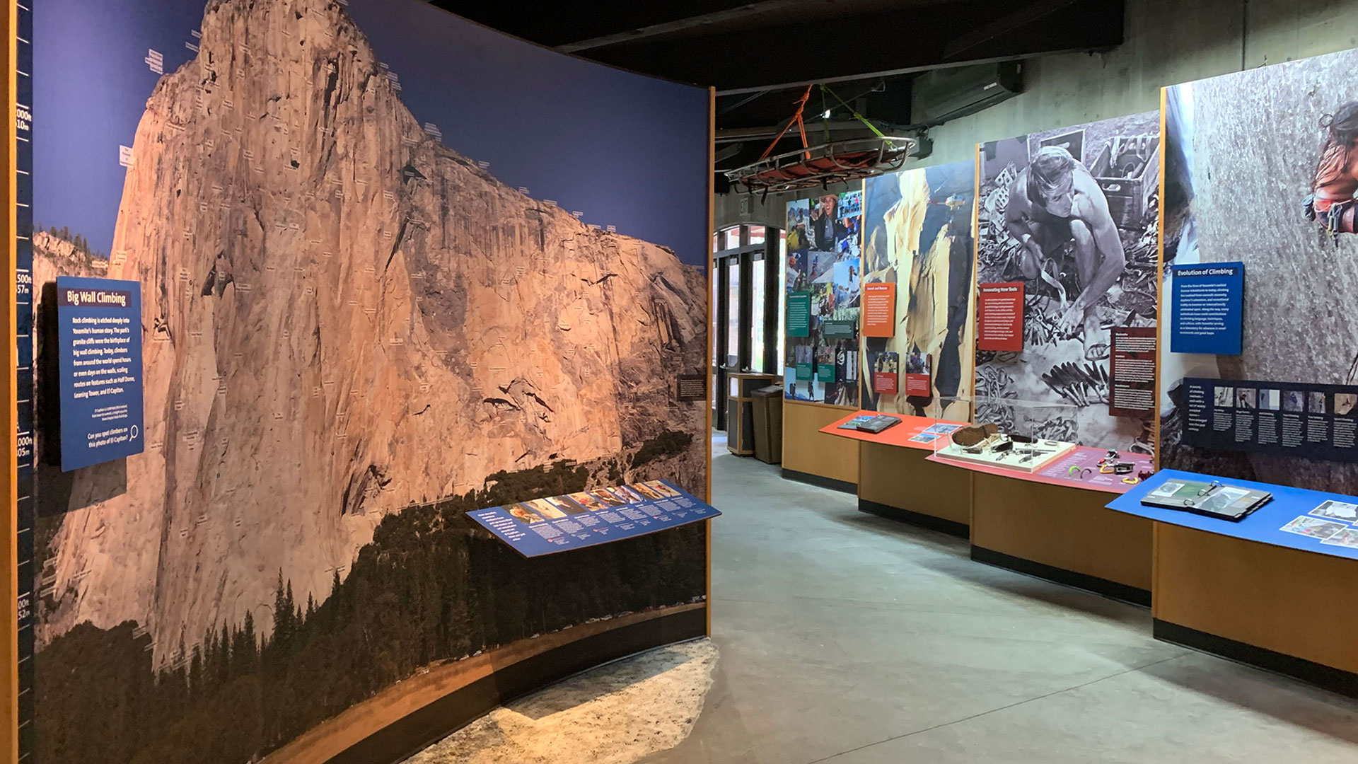 A full-wall mural showcases an ultra-high resolution photo of El Capitan.