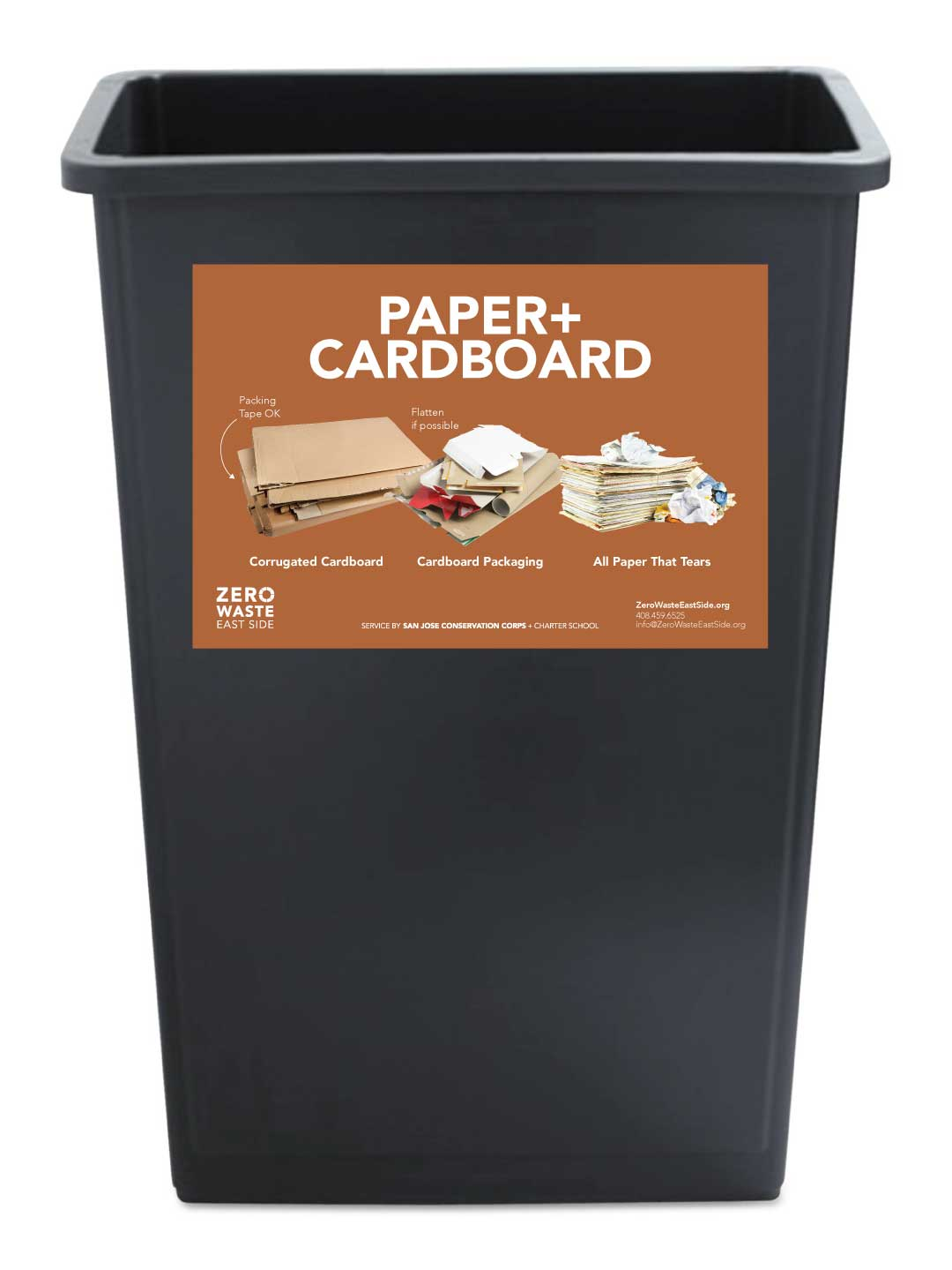 Receptacle Label for Paper + Cardboard