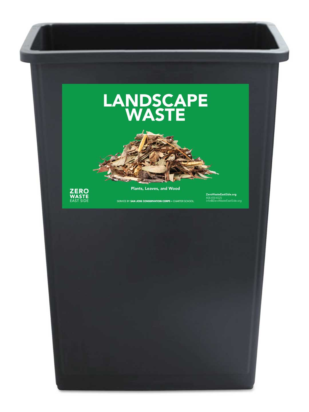 Receptacle Label for Landscape Waste